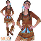Indian Girl's Dream Catcher Fancy Dress Kids Western Costume Ages 3-11 Years