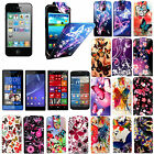 FOR VARIOUS MOBILES PRINTED LEATHER MAGNETIC FLIP CASE COVER + FREE SCREEN GUARD