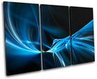 Design Abstract TREBLE CANVAS WALL ART Picture Print VA