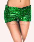 Hot Girls Sexy Sequin Club wear Party Dancing Stretch Short HOT Fashion Pants CA