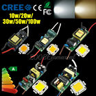 10/20/30/50/100W LED Lamps Lights Bulbs Chip 85-265V LED Driver New Power Supply