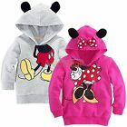 Boy Girls MINNIE / MICKEY MOUSE 3D Ear Tail Hooded Top T Shirts Costume Clothing