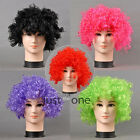 Curly Fancy Disco Clown Mens Women Boys Girls Cosplay Party Elastic Fake Wig New