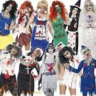Ladies Zombie Undead Ghost Horror Halloween Fancy Dress Costume Outfit Size 4-22