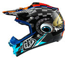 NEW 2015 TROY LEE DESIGNS SE3 BAJA MX DIRT BIKE HELMET BLUE/ ORANGE ALL SIZES