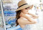Sweet Lovely Brim Summer Beach Sun Hat Straw floppy Elegant Bohemia cap UKMOLY9