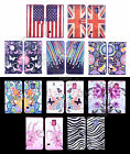 For Nokia Phones Blossom Watercolor Design Leather Media Stand Flip Cases Covers
