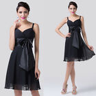 Sexy Homecoming Dress Formal WEDDING Cocktail Evening Bridesmaid Prom Black Gown
