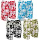 Mens Floral Print Summer Swim Sports Board Shorts Size