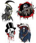"""Gothic Skull Grim Reaper 8"""" Vehicle Laptop Wall Graphic Vinyl Car Sticker Decal"""