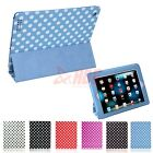 3 Fold Polka Dot Folio Leather Case Cover Stand for Apple iPad 2 3 4 3rd 4th Gen