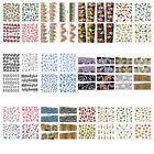 ST09 1 Sheet, 6 Sheets 4-in-1 Nail Art Water Transfers Decals-BLEM1-28 M71-98