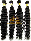 "Curly Wavy18""-26"" BODY DEEP weave WEFT Remy Hair Extensions Full Head thick hair"