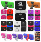 For LG Realm LS620 Hard Gel Rubber KICKSTAND Case Phone Cover Accessory