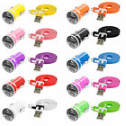Noodle Flat 3FT USB Sync Data Cable Cord+2.1Amp Rapid Car Charger for Cell Phone