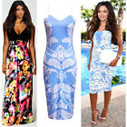 Ladies Bodycon/Maxi Dress Size 8-20 Summer Long Skirt Evening Cocktail Party TOP