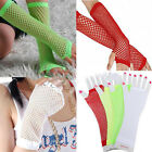 POP CHIC Neon Fishnet Fingerless Long Gloves Leg Arm Cuff Goth Punk masque UK EW