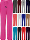Womens Pyjamas Pants Ladies Wide Drawstring Jersey Trousers Size inc Plus 8-16
