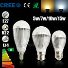 B22 E27 E14 Dimmable Globe LED Bulbs Light Lamps 5/7/10/15W Cool Warm White 240V