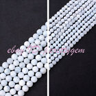 4MM 5MM ROUND SMOOTH NATURAL BLUE AQUAMARINE LOOSE GEMSTONE BEADS STRAND 15""