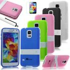 Ultra-thin Hybrid TPU Matte Stand Case Cover For Samsung Galaxy S5 SV i9600+Pen