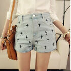 Best Price Girl Women Vintage Denim High Waisted Jeans Shorts Pants mous