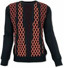 Carlo Colucci Design Noble Pull-Over Pull Noir / Rot,Bordeaux M - Xxl