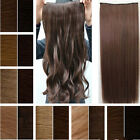 "18"" 22"" 24"" 120G ONE PIECE CLIP IN HAIR EXTENSIONS SYNTHETIC HUMAN MADE HAIR 001"