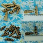 "100 Light or Dark Wood Toggle Buttons Coat Accessory 46 x 14mm (1 3/4"" x 1/2"")"