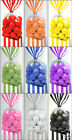 10ct. PARTY FAVORS Striped Cello Treat Goodie BAGS Pink Green Blue Lt Pink