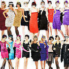 Flapper Ladies Fancy Dress 1920s Charleston Adult Womens Great Gatsby Costume