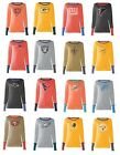 NEW NFL Touch Distressed Burn-Out Womens Shirt Long Sleeve T-Shirt Thermal