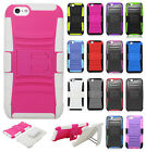 For Apple iPhone 6 / 6s Combo Holster HYBRID KICKSTAND Rubber Case Phone Cover