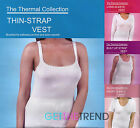 Womens White Winter Thermal Sleeveless Strap Muscle Vest Short Long Sleeve Top
