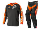 NEW 2014 TROY LEE DESIGNS TLD SE PRO CORSE MX GEAR COMBO GRAY/ ORANGE SZ 38 & XL