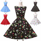❤CHEAPEST❤ New Vintage Dress 1940s/50s Polka Dot Swing Evening Party Tea Dresses