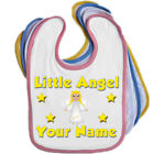 LITTLE ANGEL PERSONALISED BABY BIB - ANY NAME / TEXT - GREAT NAMED GIFT