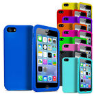 SILICONE SKIN CASE COVER - SCREEN PROTECTOR - APPLE iPHONE 5S 5