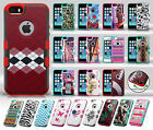 For Apple iPhone 5 5S SE TUFF MERGE HYBRID Case Skin Phone Cover + Screen Guard