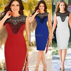 Fashion Sexy Women's Celeb Lace Sleeveless Bodycon Party Cocktail Evening Dress