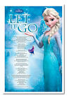 Frozen Let It Go Song Lyrics Magnetic Notice Board Includes Magnets