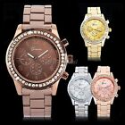 Luxury Women Bling Girl Unisex Sport Charm Stainless Steel Wrist Watch 35DI