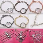 Fashion Hot Magnetic Crystal Memory Locket Silver Bracelet For Floating Charms