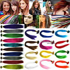 feather hair pieces - 3 pieces GRIZZLY / SOLID SYNTHETIC FEATHER Hair Extension 15-16