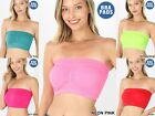 "7"" SEAMLESS TUBE TOP BLACK WHITE NUDE GRAY RED NAVY SMALL MEDIUM LARGE #NT-5506"