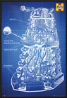 DOCTOR WHO - FRAMED POSTER / PRINT (DALEK BLUEPRINT - BY HAYNES) (DR. WHO)