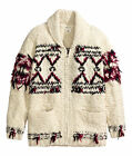 Isabel Marant pour H&M White Black Red Women Cardigan Jumper 6 - 8 (Boy's 8-10)