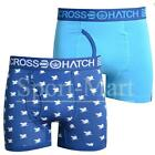 Mens Crosshatch Emberwing  Pack of 2 Boxer Trunk Shorts Sapphire Blue Mens Size