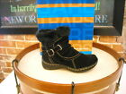 Bare Traps Extreme Black Suede Ruched Ankle Boots NEW
