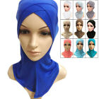 Cotton Full Cover Inner Hijab Muslim Hat Cap Islamic Head Wear Band Neck Cover